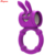 Hot Selling Rabbit Vibrating Cock Ring Delay Lasting Penis Rings With Clitoral Vibrator
