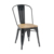 2020 Hot Sale Wood Seat Stackable Antique Style Metal Dinning Chairs For Sale