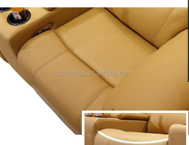 Red Sofa Set Design Photo.Electric Control Recliner Sofa In China(606)