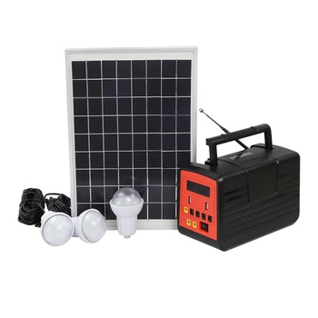 10W Solar energy charging with off grid solar power system with FM radio and ran DC fan solar energy storage system products