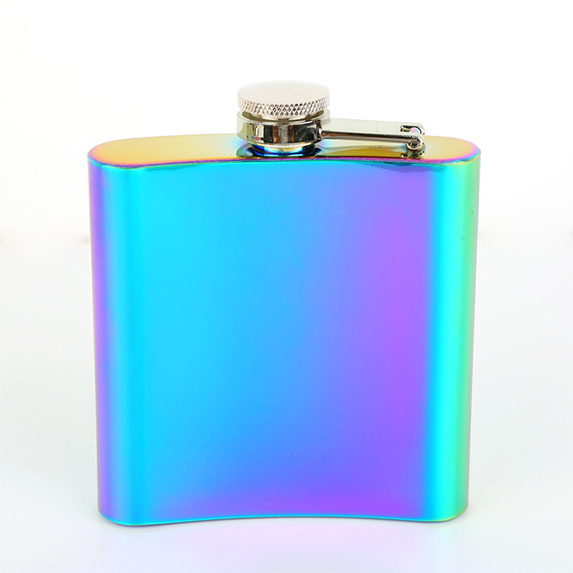 8oz electroplated metal hip flask stainless steel wine pot