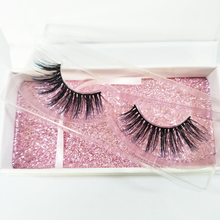Own brand smart <strong>flat</strong> wholesale premium 3d silk eyelashes samples with box