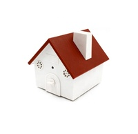 Bird house electronic ultrasonic dog repeller no bark device anti dog bark device for outdoor animal stop barking