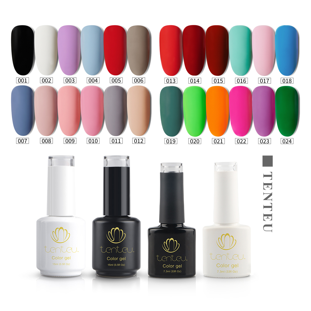 TenTeu Free sample wholesale Low MOQ <strong>120</strong> colors soak off uv gel nail polish