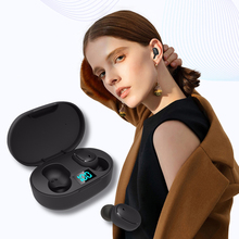 E6S TWS Power LED Display Earbuds 6D Stereo Headsets IPX5 Waterproof headphone Mini Earbuds for smartphone and <strong>Smart</strong> <strong>Watch</strong>