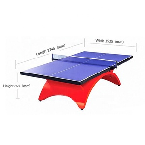 25mm Standard Size Movable Waterproof Big Rainbow Indoor Ping Pong Table Tennis Tables for Entertainment