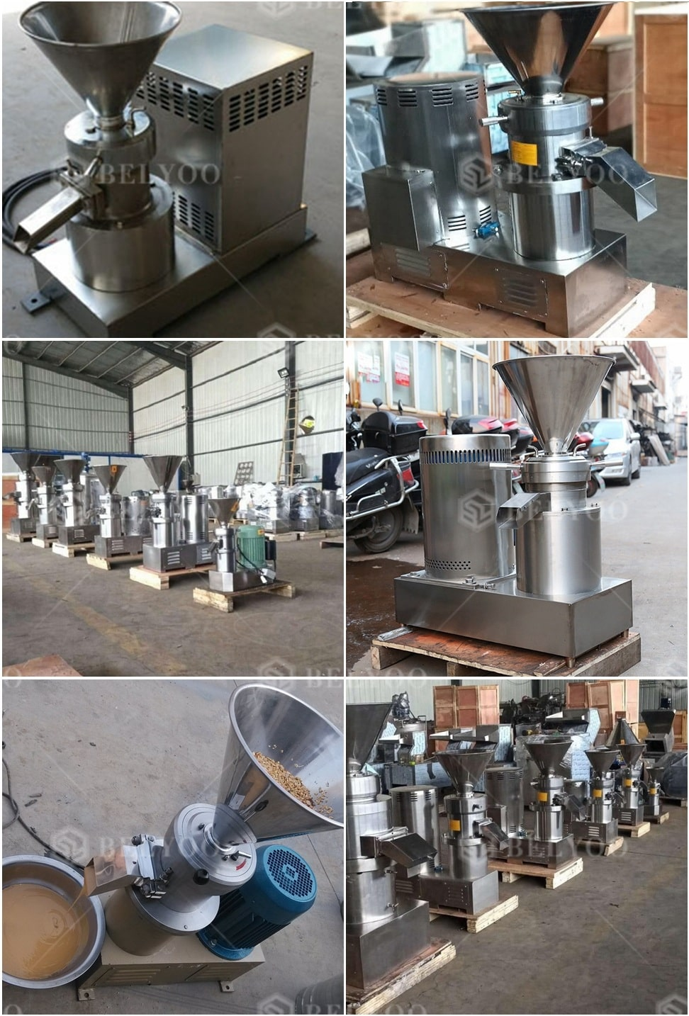 Industrial peanut butter making machine/household peanut paste grinder colloid mill price