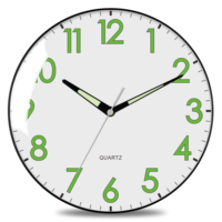 "2020 Imarch WC30502-BK-SL 8"" High quality slient movement home bedroom classroom decoration wall clock"