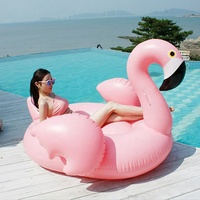 Big Inflatable Flamingo 60 Inches Unicorn Pool Floats Tube Swimming Ring Circle Water Mattress Bed For Adults Pool Toys Party