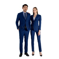 double back vent 2 piece royal blue women suit blue set women