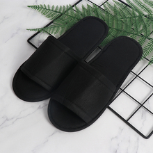 High quality eco friendly reusable black open toe disposable hotel <strong>slipper</strong>