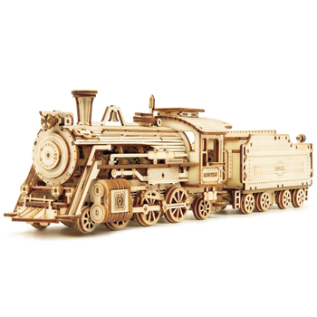 Robotime Factory Locomotive Train Model 3d wooden puzzle toys for adults and kids