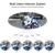Waterproof V6 full duplex bluetooth helmet intercom headset interphone for motorcycle