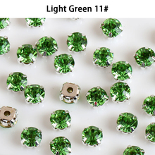 High Quality Glitter Flatback Luminous Diamond Charm <strong>Crystal</strong> Shiny Glass Four Metal Claw Sewing Rhinestones
