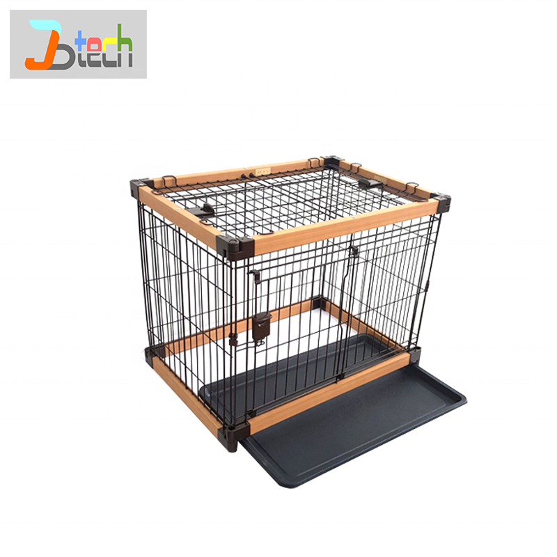 Large Indoor pet cages, carriers & houses wood crate dog cages carrier portable wooden crate solid wood cage for dog and cat