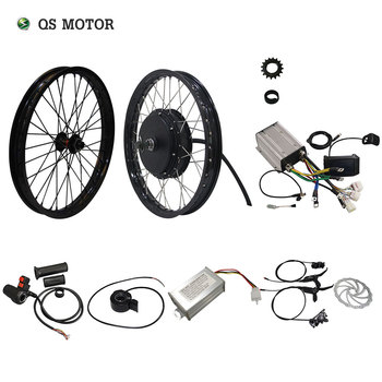 QS Motor 205 50H V3 Electric high power bicycle kit / E bike kit / spoke hub Motor 3000W Powerful Hub Motor Kit