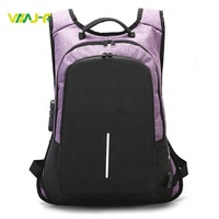 Solar laptop backpack bag Waterproof Anti-Theft Solar Power Solar Backpack Fast Charging Camping Hiking Daypack 12W Solar Panel