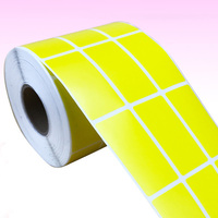Die Cut Thermal Paper Sticker Yellow color Blank label Printing Sticker Roll blank wallpaper rolls adhesive label stickers