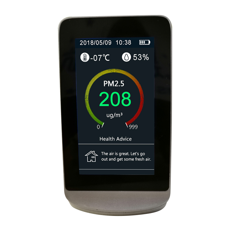 Portable Air Quality Formaldehyde Monitor Detector Indoor HCHO  PM2.5 PM10 PM1.0 4.3 inch digital LCD Display air monitor