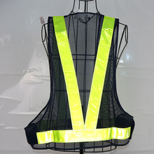 V type mesh reflective <strong>safety</strong> vest with PVC tape
