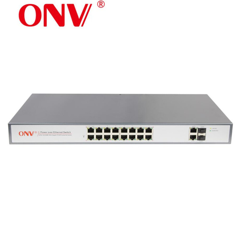 16+2 port 10/100/1000Mbps poe switch network