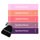 hot sale fitness pink yoga latex resistance loops rubber bands set