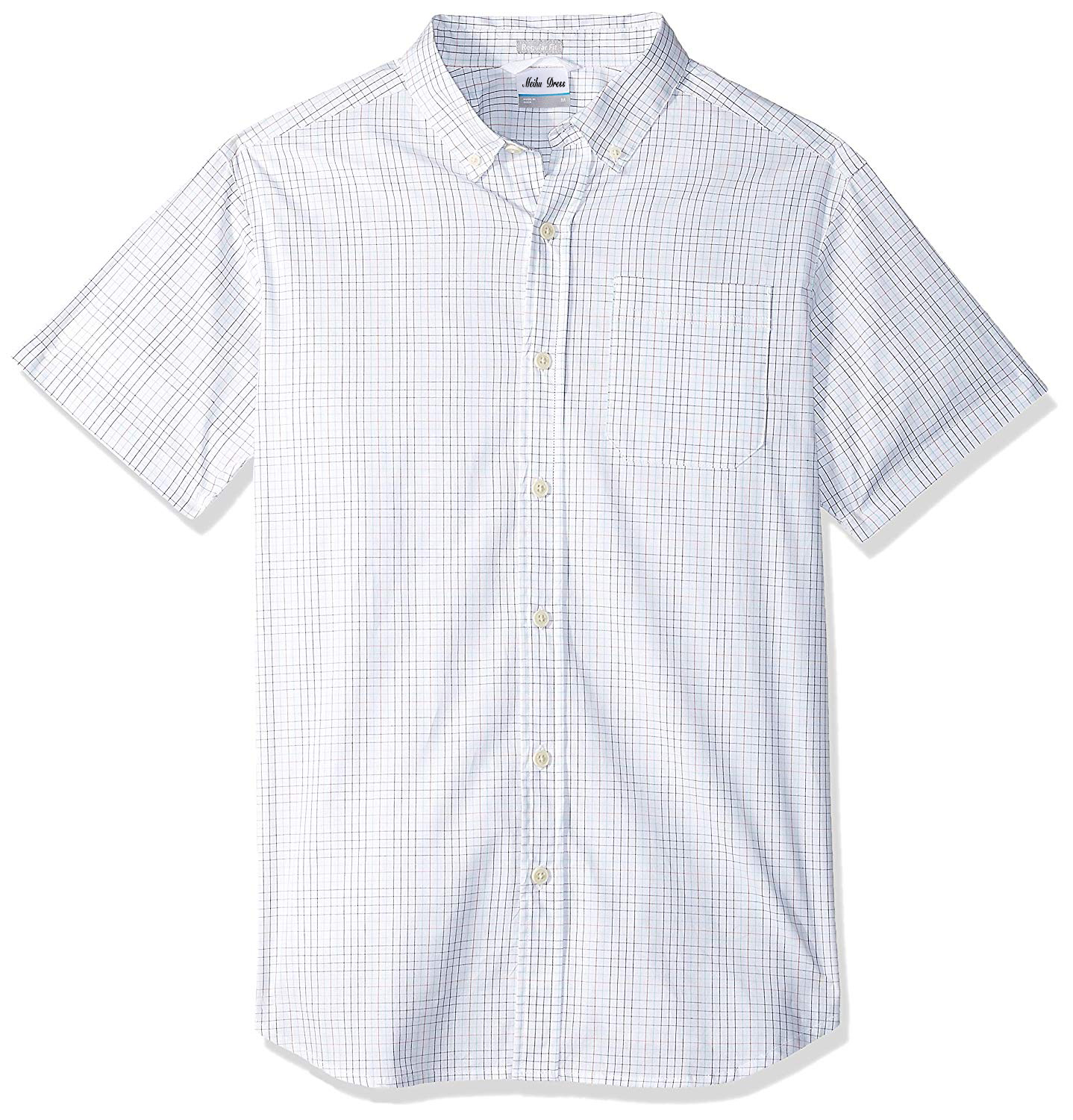 Summer Hot Selling New Style Men's Casual Plaid 100% Cotton Short Sleeve Shirts Customized