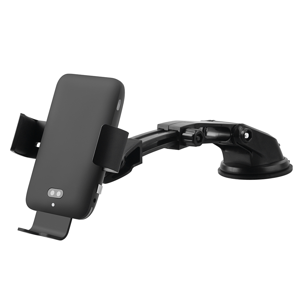 <strong>C12</strong> Qi Car Wireless Charger For Samsung S10 S8 Intelligent Voice Control Infrared Fast Charging for iPhone XR X Car Phone Holder