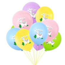 <strong>12</strong> inch Colorful Cartoon Animal Alpaca Llama Latex Balloons Happy Birthday Inflatable Air Ball Baby Shower Wedding Party Supply