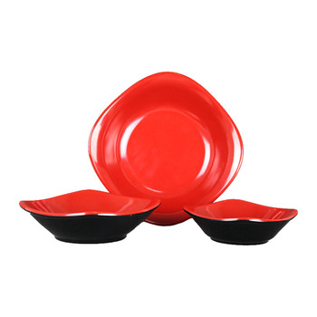 High quality eco-friendly hot sale plastic black melamine dinner plate