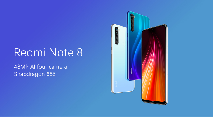 "Xiaomi Redmi Note 8 Global 4GB 64GB Snapdragon 665 Octa Core Mobile Phone 48MP Quad Rear Camera 6.3"" Screen Xiomi Redmi Note 8"