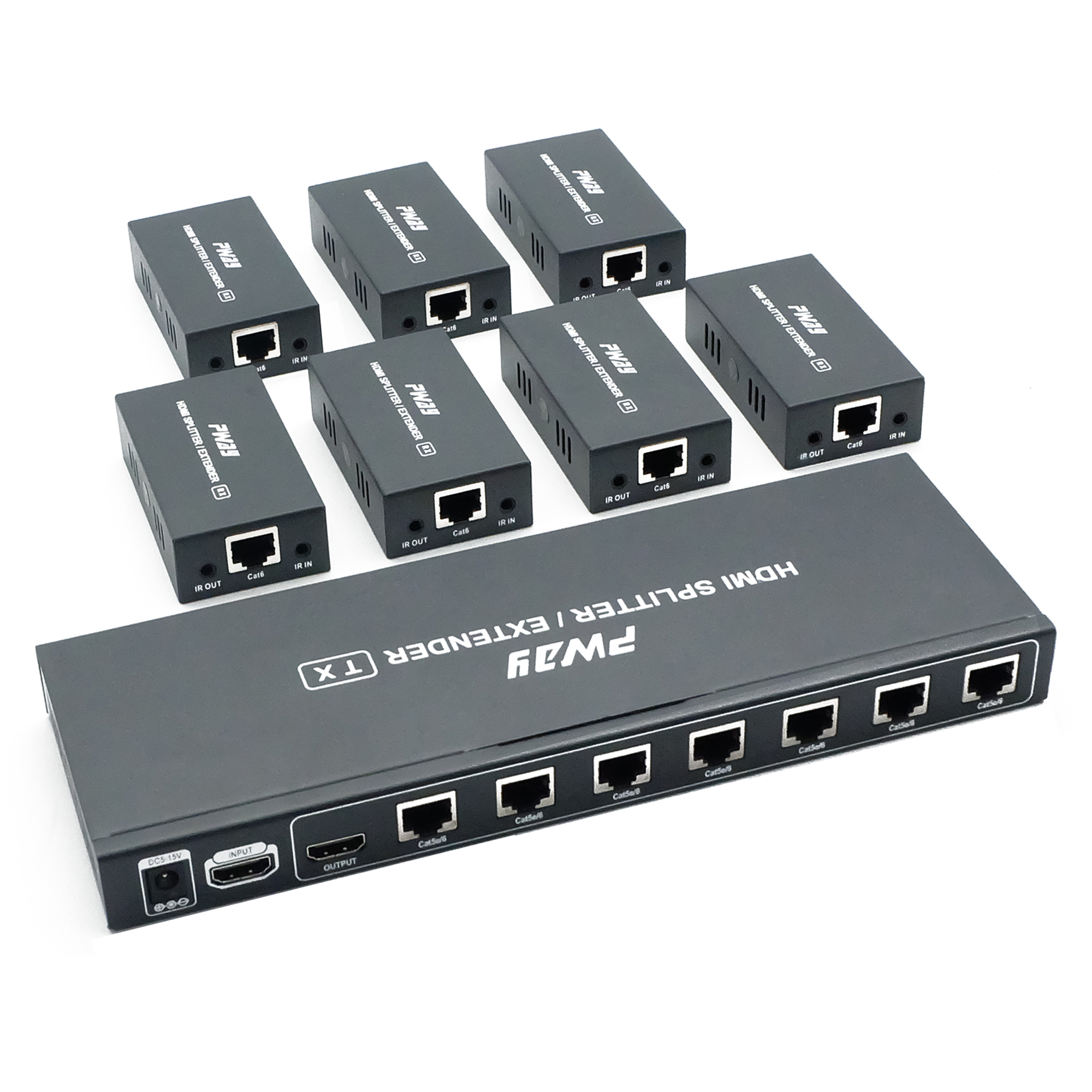 PWAY HTS0107 HDMI Extender splitter 60m Support IR Function and Loop out