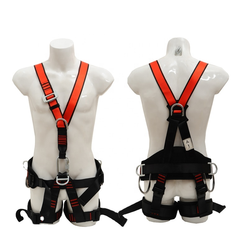 Universal Size 7 Adjustable Point Mountain Climbing Harness