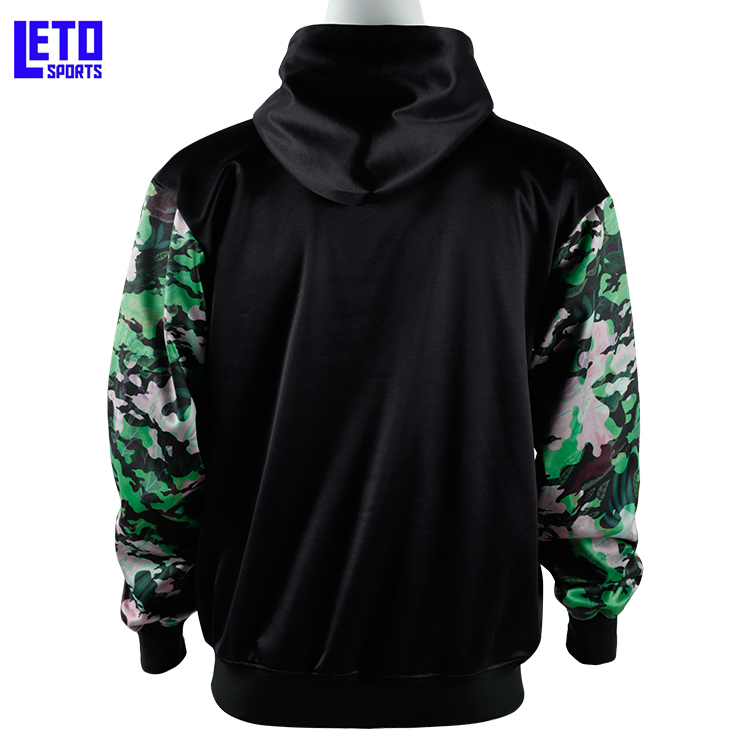Mens pullover Black Hoodies Long Sleeve Pocket Sweatshirt with Pocket
