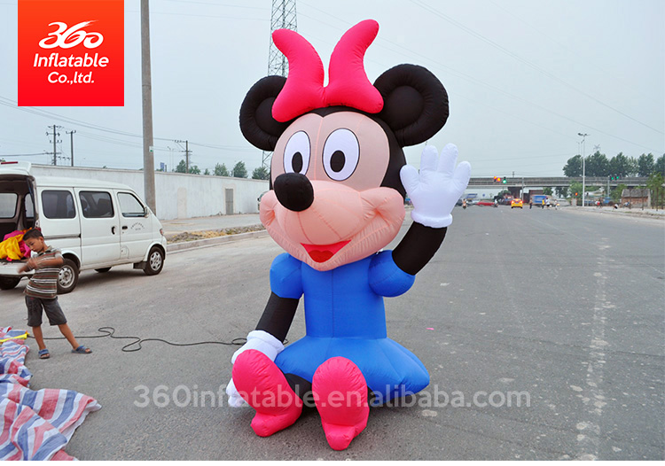 Inflatable Advertising Seated Micky and Mini Mouse Mascot,Customized Inflatable Famous Cartoon OEM Mickey Mouse for Kids Park