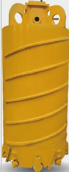1000mm Specially designed core barrel for foundation piling with powerful roller cones for hard formation