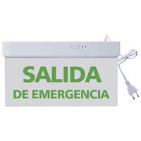 Single or Double Sided hotel use SALIDA Emergencia Led Exit Sign Emergency Light