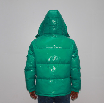 High quality mens puffer jackets custom green bubble coat winter jackets
