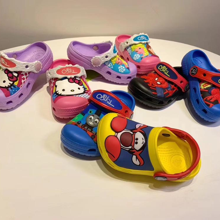 Children's Slippers summer Home Warm and Slip-proof Soft Bottom 2019 New Cartoon <strong>Cotton</strong> Slippers Female