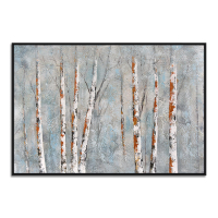 Handmade Framed Artwork Modern Wall Art Birch Forest Oil Painting On Canvas