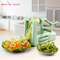 Fruit vegetable Tools 5 Blade Vegetable Spiral slicer Cutter