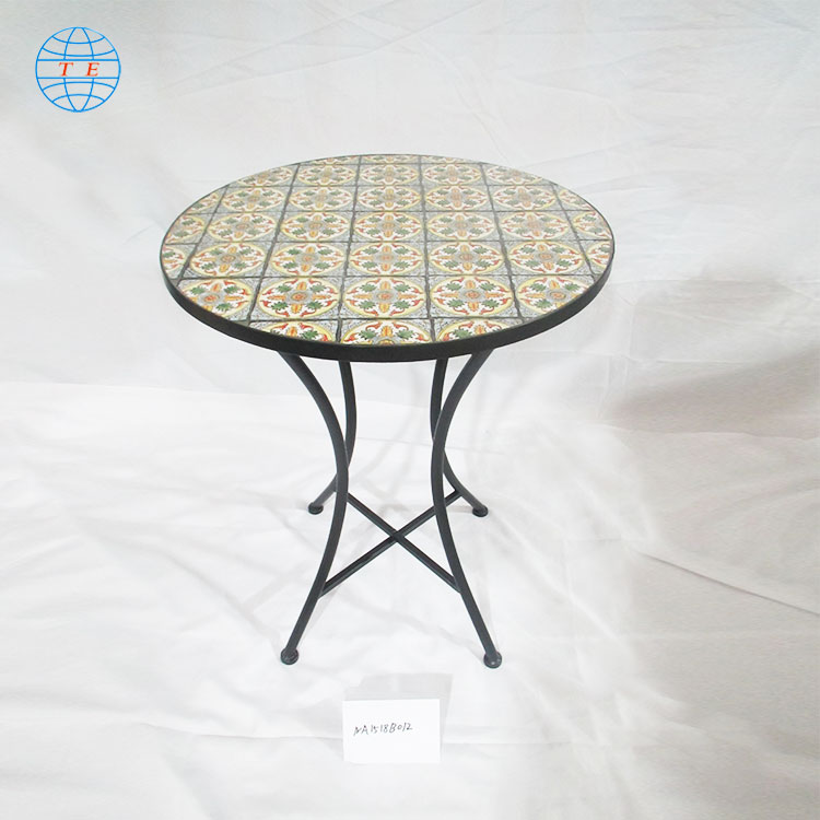 French Furniture European Style ,cheap outdoor mosaic metal table