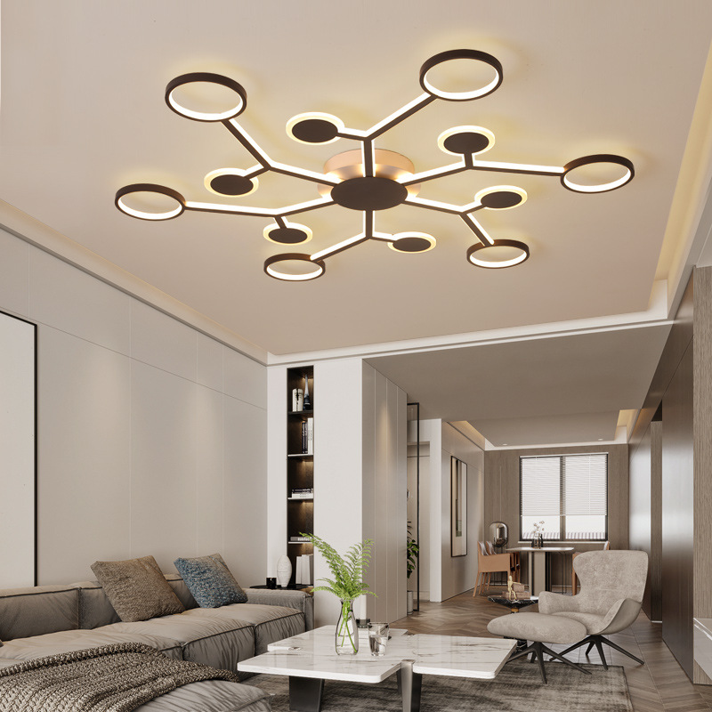Minimalist bedroom living room Indoor Lighting <strong>LED</strong> pendant <strong>light</strong> creative round acrylic ceiling lamps Dimmable Pendant <strong>light</strong>