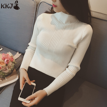 2019 Knitted Half Turtleneck Women Sweater Wholesale In-Stock Pullover Sweater for Women
