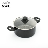Cutting Edge 20/24cm Carbon Steel Chinese Two Handle Soup Pot With Lid