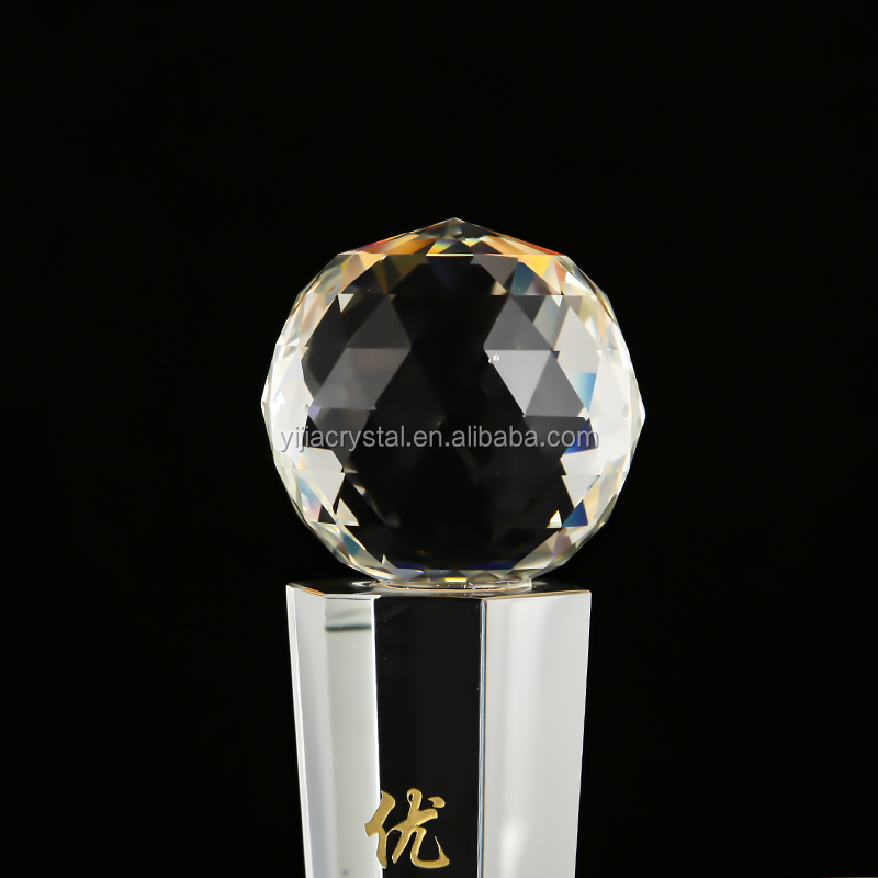 Prize item k9 crystal gifts mirror ball trophy