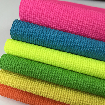 UV stability  neon color anti lip vinyl grip fabric material for motorcycle and motocross gripper seat cover