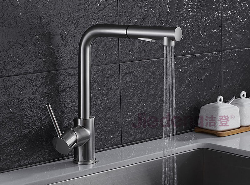 exquisite and durable single handle brass flexible hose for kitchen faucet