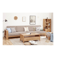 Factory wholesale combination living room <strong>furniture</strong> solid wood sofa