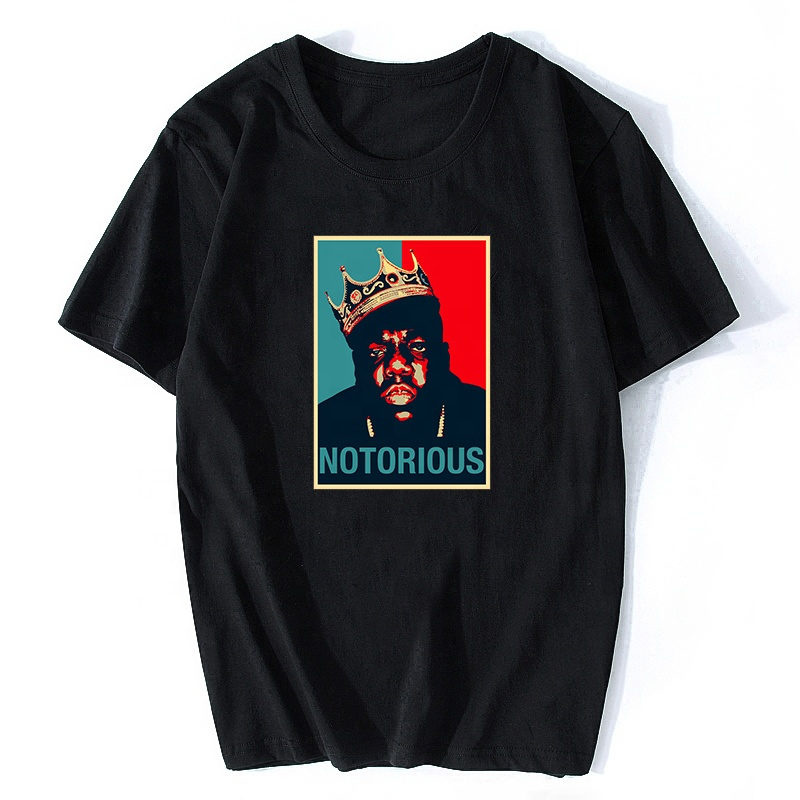 R.I.<strong>P</strong> Notorious Big Shirt Mens Short Sleeve Black Tshirt Hiphop Rock Biggie Smalls T Shirt Male Notorious B.I.G. Wholesale